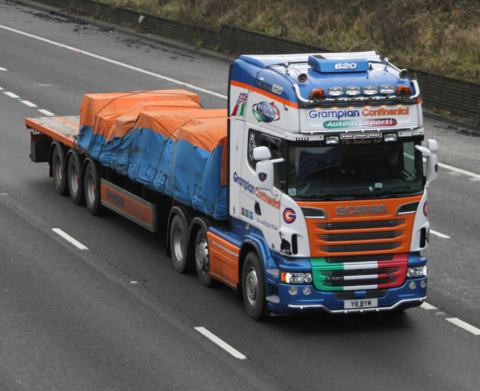 Scania R620 For Grampian Continental News From Lorryspotting Com